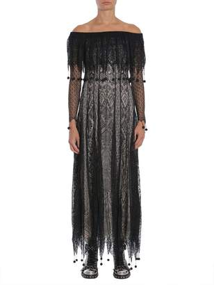 Alexander McQueen Off Shoulder Lace Dress
