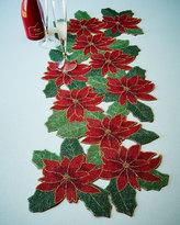Divine Designs Poinsettia Beaded Table Runner