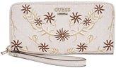GUESS Arianna Embroidered Zip-Around Wallet