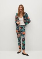 Thumbnail for your product : MANGO Tropical print trousers