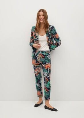 MANGO Tropical print trousers