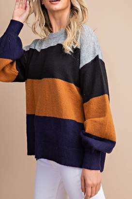 Kimberly Style Trolley Color-Block Sweater