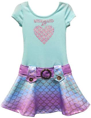 LILT Lilt Girls Short Sleeve Drop Waist Dress - Toddler