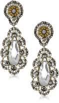 Miguel Ases Pyrite Bead 14k Gold Filled Embroidered Drop Earrings