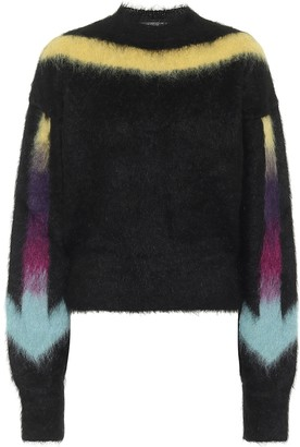Off-White Arrows Fuzzy mohair-blend sweater