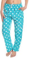 Angelina Aqua Dot Fleece Pajama Pants - Plus Too