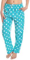 Angelina Aqua Dot Fleece Pajama Pants - Plus Too