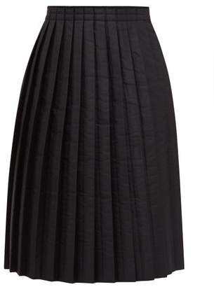 MM6 MAISON MARGIELA Pleated Padded Technical-fabric Skirt - Womens - Black