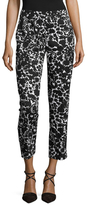 Prada Cotton Floral Print Cropped Pant