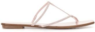 Pedro Garcia Crystal Strap Sandals