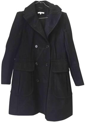Carven Black Wool Coat for Women