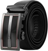 K&S KS Men's Dress Leather Belt Slide Automatic Buckle KB101