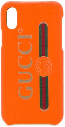 Gucci logo print iPhone X case