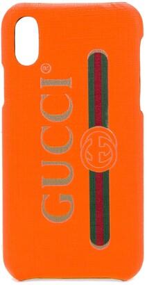 Gucci logo print iPhone X case