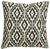 H&M Patterned Cushion Cover - Natural white/moss green