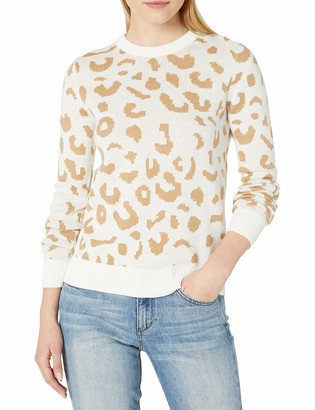 Jessica Simpson Women's Perry Long Sleeve Jacquard Pullover Sweater