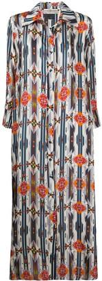 Jessie Western Navajo-print shirt dress