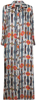 Jessie Western Navajo-print shirt dress