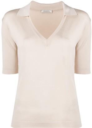 Nina Ricci Short-Sleeve V-Neck Shirt