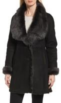 Women's Hidesociety Mariah Genuine Toscana Shearling Wing Collar Coat