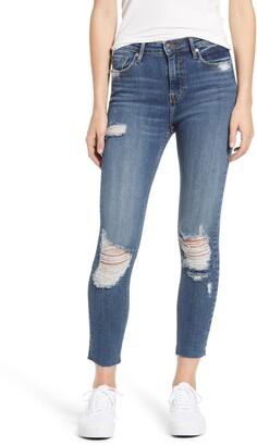 Vigoss Ace High Waist Distressed Skinny Jeans