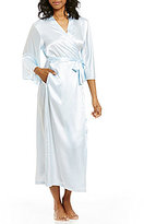 Oscar de la Renta Long Charmeuse Wrap Robe