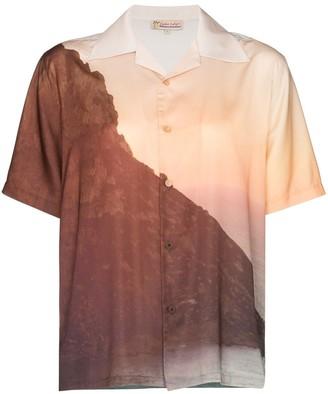 Esteban Cortazar sunset print short-sleeve shirt