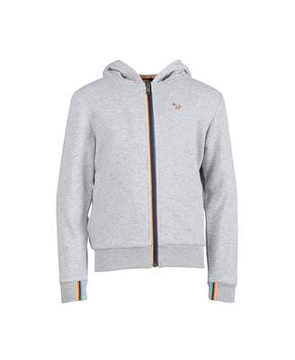 Paul Smith Verde Zip Through Logo Hoody Colour: GREY, Size: Age 8