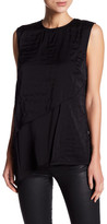 DKNY Layered Quilted Silk Blend Tank