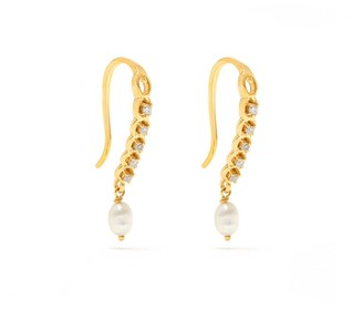 Jaipur Atelier | Los Angeles Laura White Diamond Pearl Earrings