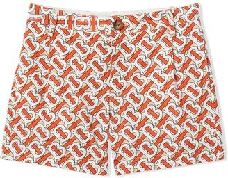 BURBERRY KIDS Monogram Print Shorts