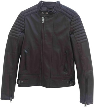 Diesel Black Leather Leather Jacket for Women