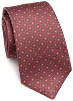 Kiton Floral Patterned Silk Tie