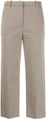Pinko Dogtooth-Print Cropped Trousers