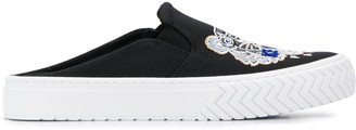 Kenzo Tiger-Embroidered Backless Slip-On Trainers
