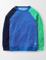 Towelling Sweatshirt Navy / Skipper / Mint Boys Boden