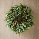 west elm Red Berries Wreath
