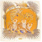 Salvatore Ferragamo Lion Print Silk Scarf