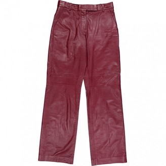 Louis Vuitton \N Red Leather Trousers