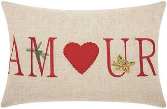Nourison Mina Victory Home For The Holiday Amour Holiday Decorative Pillow