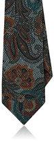 Etro Men's Paisley Basket-Weave Wool-Silk Necktie-GREY