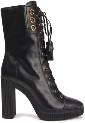 Tod's Lace-up Leather Platform Ankle Boots