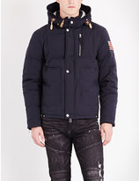 True Religion Hooded cotton-blend jacket