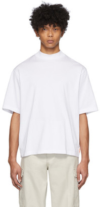 Acne Studios White Mock Neck T-Shirt