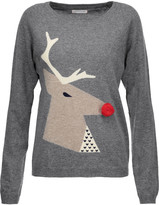 Chinti and Parker Embellished intarisa-knit wool and cashmere-blend sweater