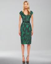 Michael Kors Printed Cady Dress
