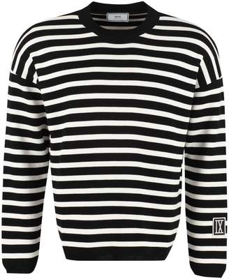 Ami Alexandre Mattiussi Striped Crew-neck Pullover
