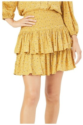 French Connection Floral Ruffle Skirt