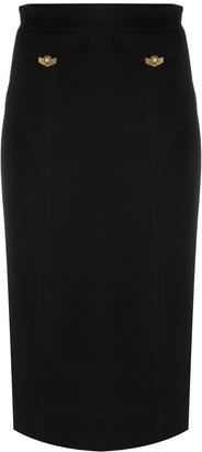 Versace Front Flap Pocket Pencil Skirt