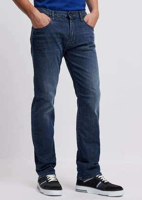 Emporio Armani Regular-Fit J45 Jeans In Stretch Cotton Denim